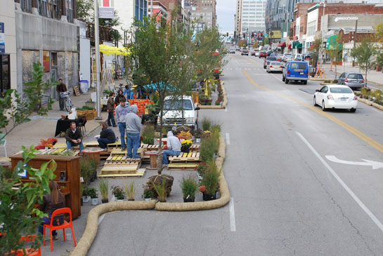 A Better Block project in Kansas City from 2012