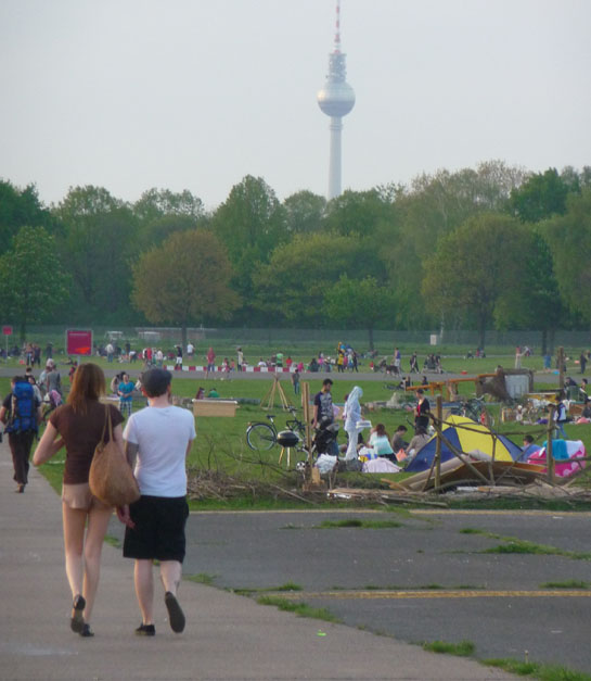 Tempelhof and Fernsehturm in distance (photo: Andrew T Jones)