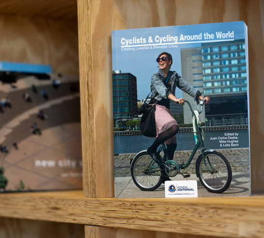 """Cyclists & Cycling Around the World - Creating Livable & Bikeable Cities"", a new book - edited by Juan Carlos Dextre, Michael Higes & Lotte Bech - was released at the opening of the 3rd Eimus Conference about Mobility in Lima. Peru Nov. 3rd, 2013."