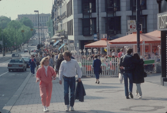 Oslo in 1987, when Jan Gehl  made the first registrations of public life in the centre of Oslo